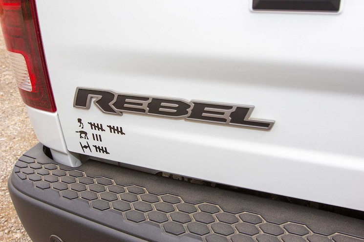 2015 Ram 1500 Rebel Rear Badging