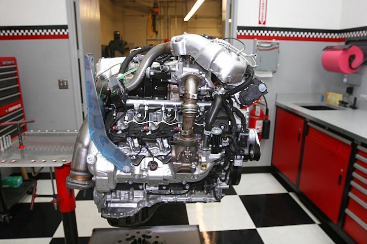 6.6l Duramax L5P Engine Left Side