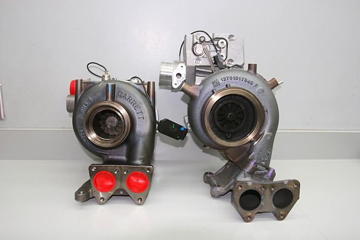 6.6l Duramax L5P Rear Turbos
