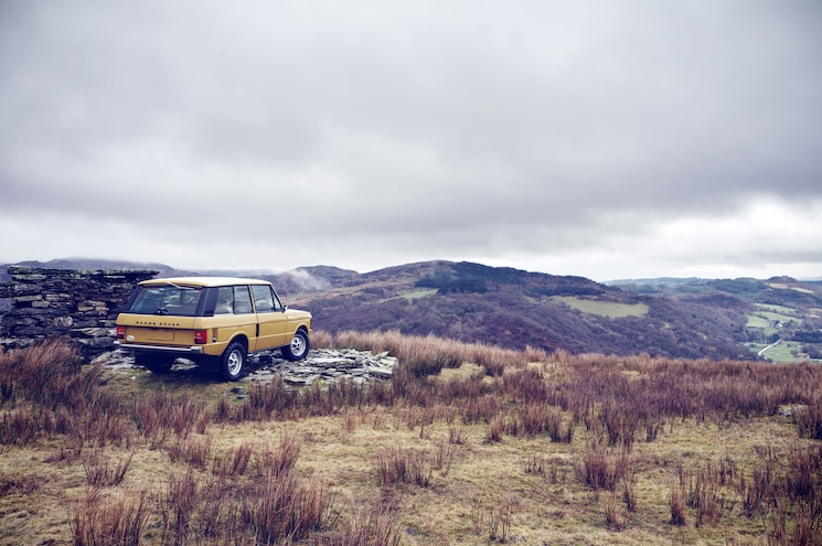 1977 Land Rover Range Rover Reborn Rear Quarter Shale