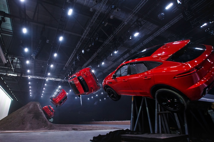 Record-Breaking First Look: 2018 Jaguar E-Pace Does a Barrel Roll