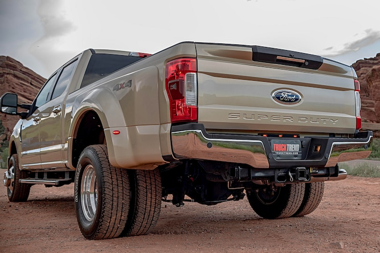 1 Ton Challenge Competitors Ford F350 Rear