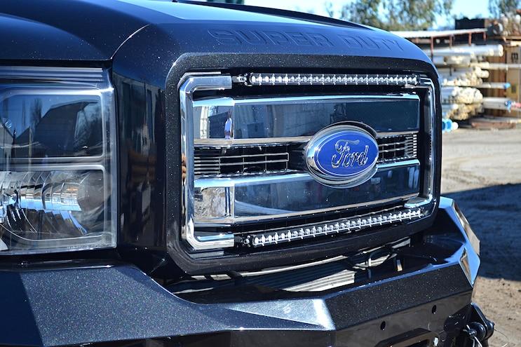 Dark Knight 2015 Ford F 350 017 Grille Lights