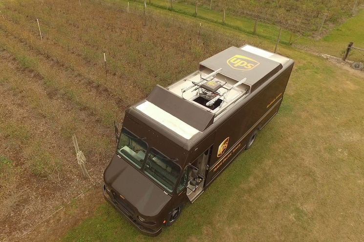 UPS Demonstrates Truck-Based Drone System for Rural Deliveries