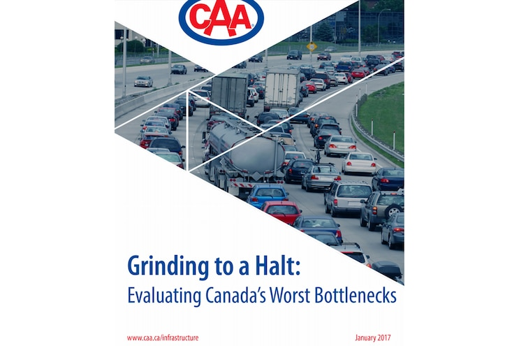 News 8 Lug Canadian Automobile Association Worst Bottlenecks Toronto Montreal Vancouver