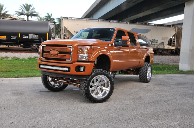 Caramel Bronze 2013 Ford F-250 from 8 Lug Customs