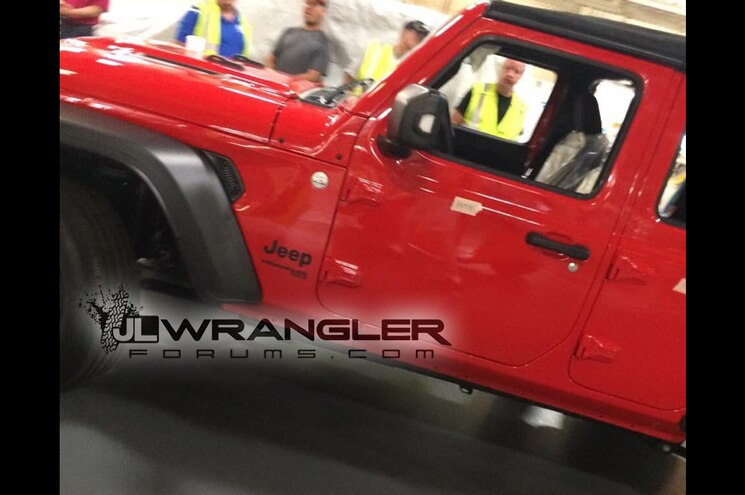 2018 Jeep Wrangler JL Leaked in Factory Photos