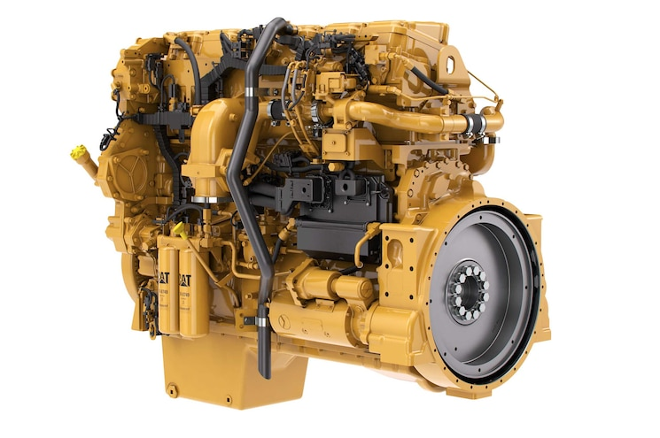 CAT C18 ACERT Diesel Industrial Engine Rear