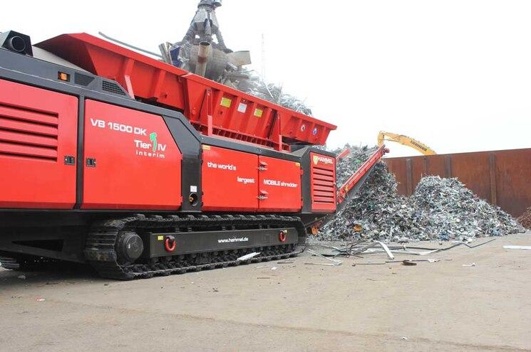 Hammel VB 1500 DK Diesel Primary Shredder Metal Output