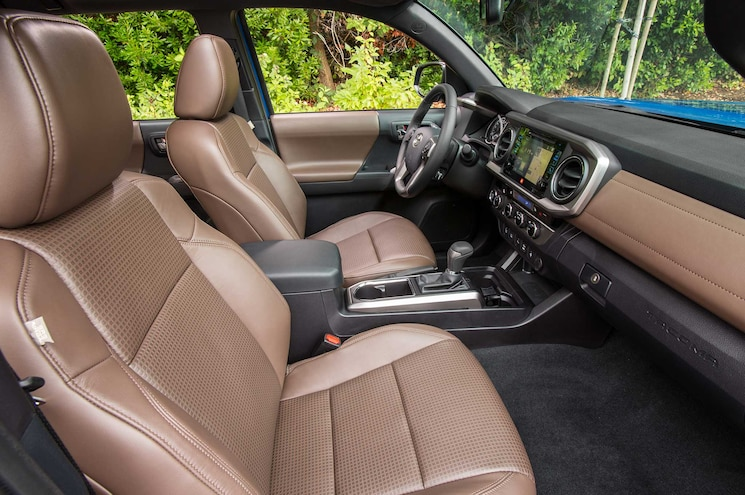 2016 Toyota Tacoma Limited Hickory Leather Interior Front Seat