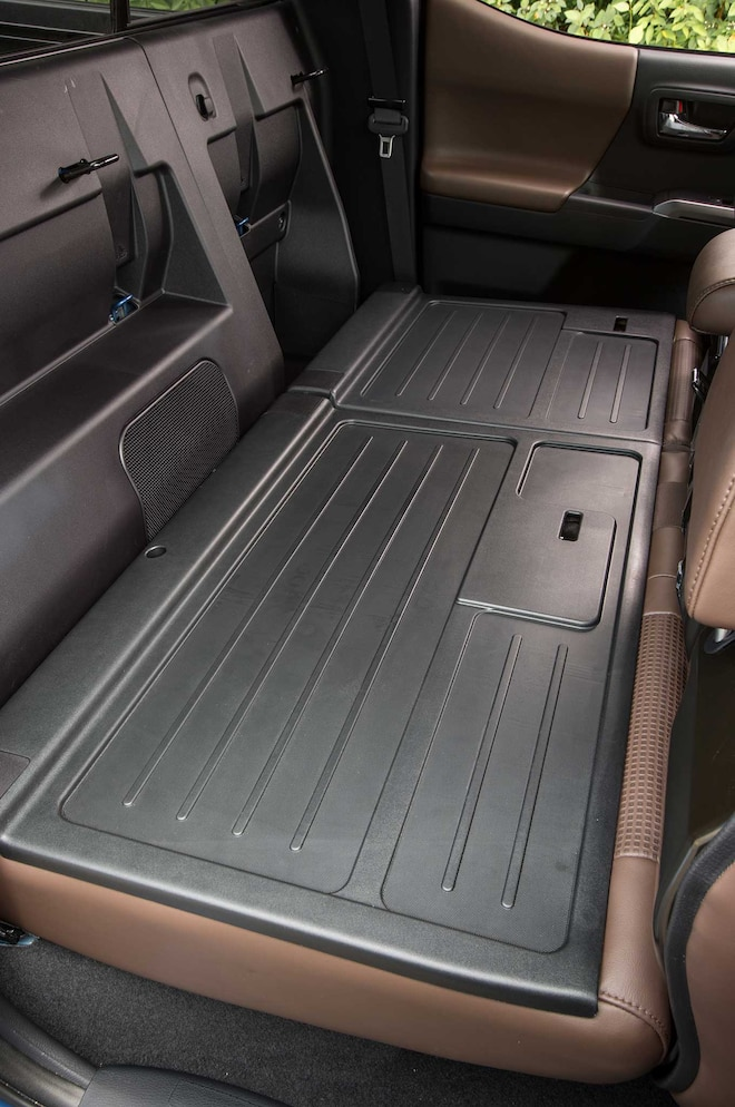 2016 Toyota Tacoma Limited Hickory Leather Interior Folddown Rear Seat