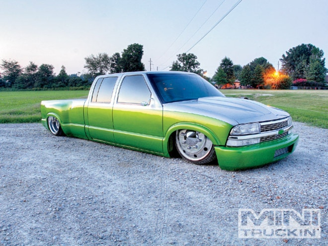 2003 Chevy S-10 Crew Cab Dually - Chevy Small Block - Mini Truckin