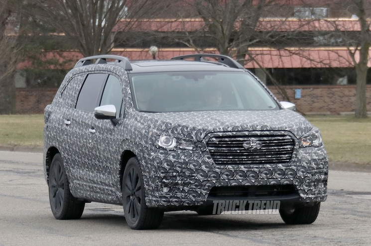 SPIED - 2018 Subaru Ascent Three-Row Crossover With Production Bodywork