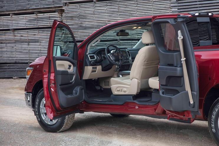 Auto News 8 Lug Work Truck 2017 Nissan King Cab Titan Xd Commercial Rear Seat Delete Interior