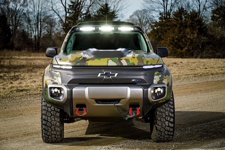 Tardec Chevrolet Colorado Zh2 Hydrogen Fuel Cell Front
