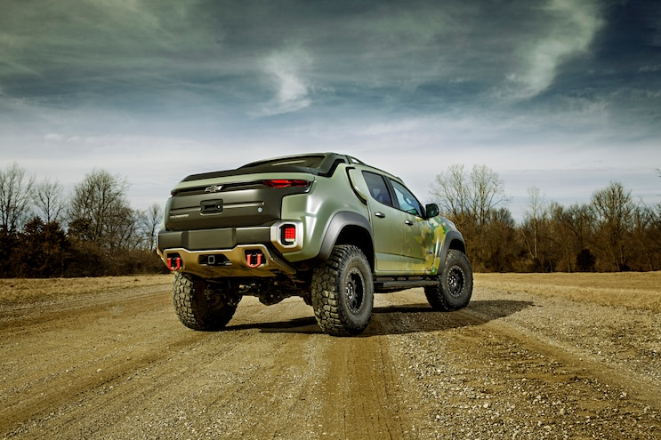 Tardec Chevrolet Colorado Zh2 Hydrogen Fuel Cell Rear