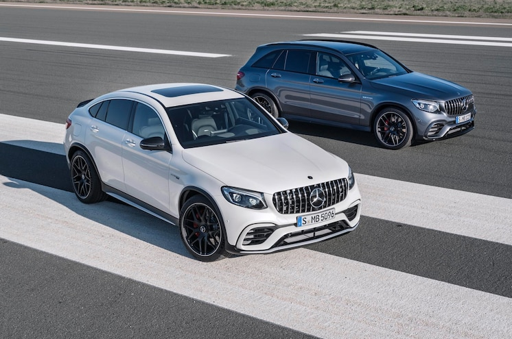 Mercedes Debuts Hot 2018 GLC63, Coupe AMG Variants in New York