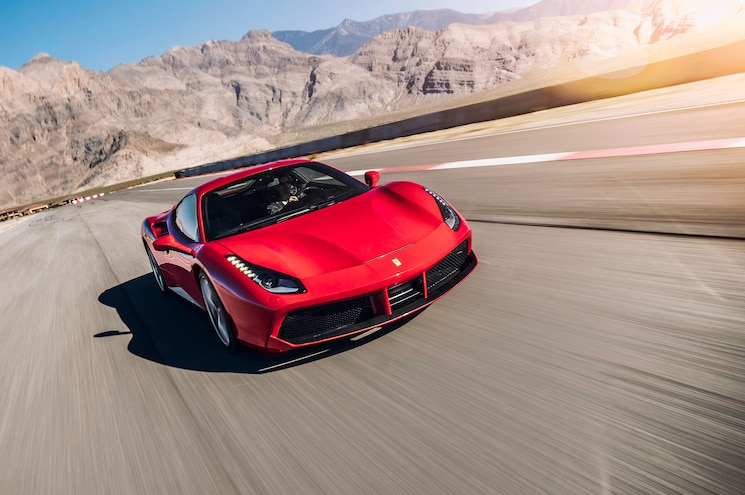 Ferrari 488 GTB Front View In Motion 03 85