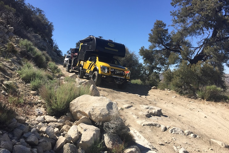Adventuring in Hellwig's 2016 Nissan Titan XD with Lance Camper when…