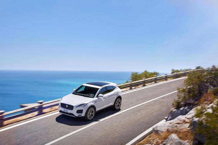 2018 Jaguar E Pace Front Three Quarter In Motion 04