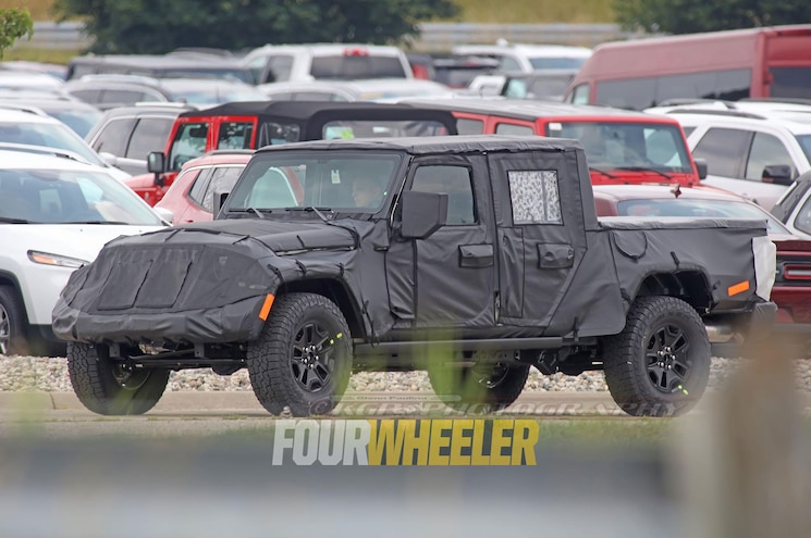 2019 Jeep Wrangler Pickup Front Three Quarter