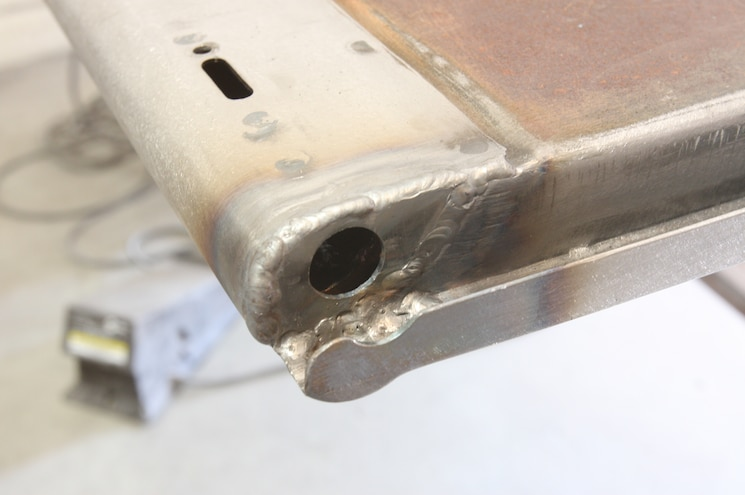 1956 Ford F 100 Making Sure Hole Is Positioned Correctly
