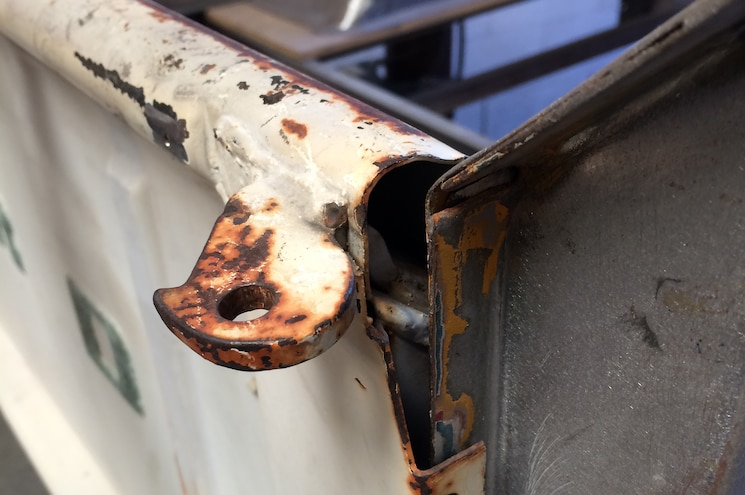 1956 Ford F 100 Hook Welded To Tailgate