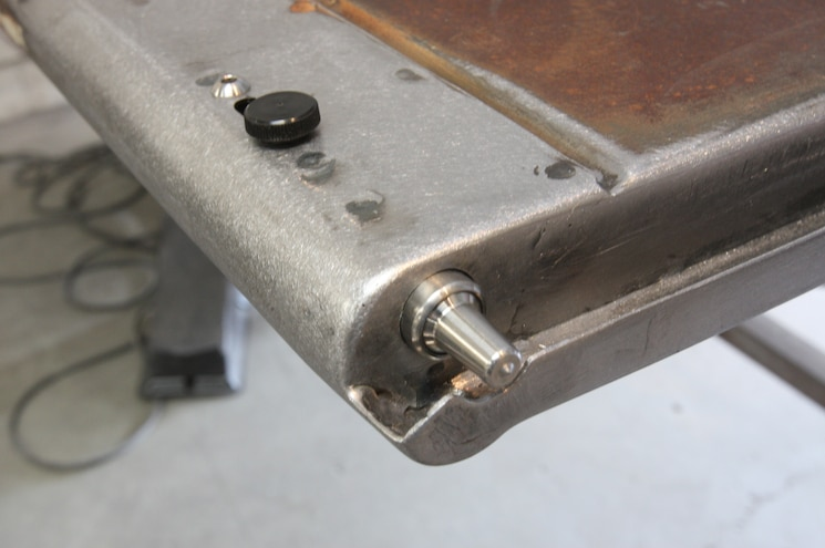1956 Ford F 100 Welds Ground Down And Latch Installed