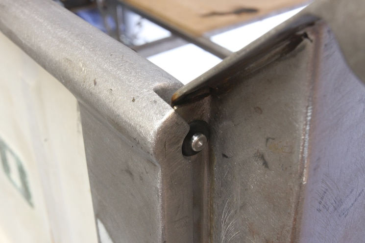 1956 Ford F 100 Tailgate Latch Completely Installed