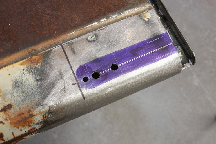 1956 Ford F 100 Hole Drilled For The Mounting Bolt
