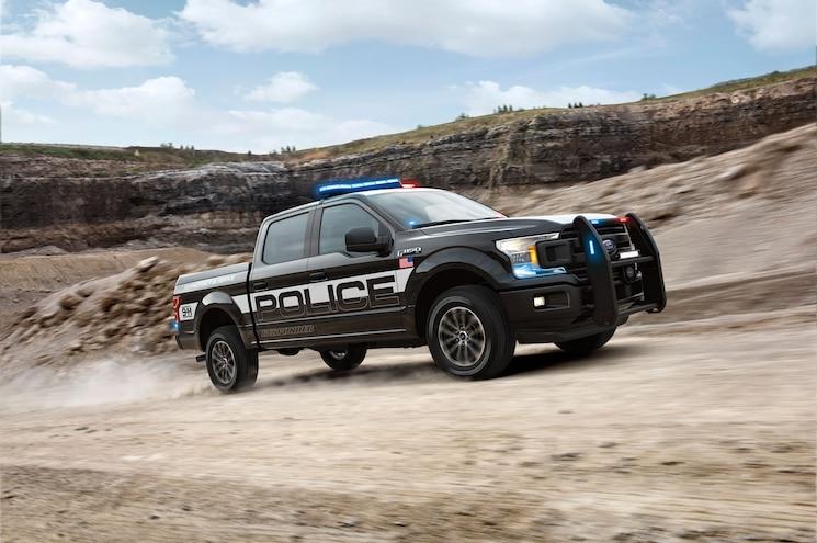 2018 Ford F 150 Police Responder Exterior Front Quarter 01