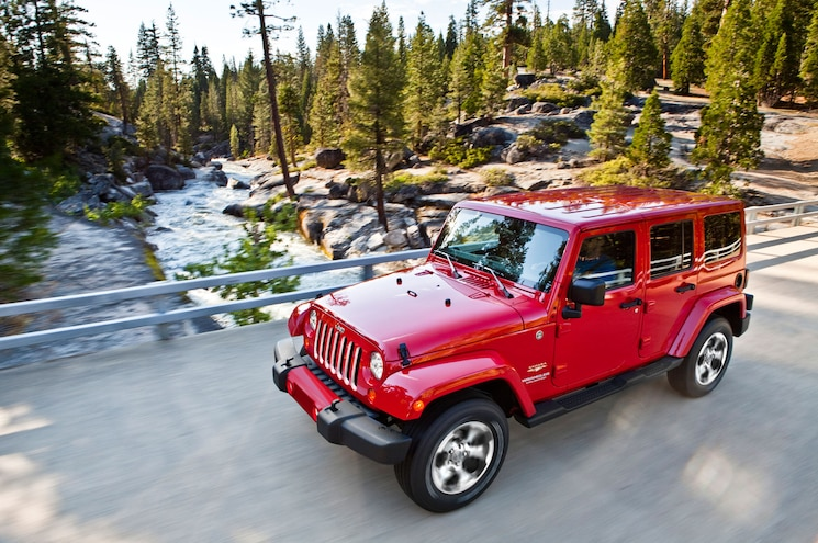 2016 Jeep Wrangler Sahara Front Three Quarter In Motion
