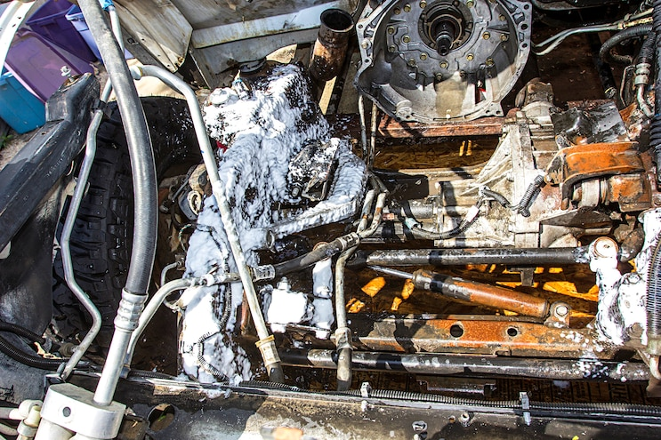 Engine Bay Heat Shielding Clean