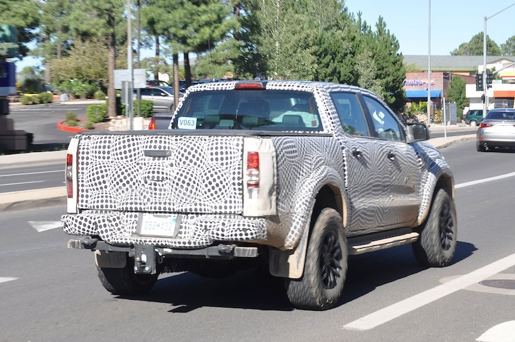 2019 Ford Ranger Raptor Rear Quarter 02