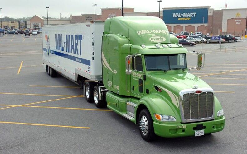 walmart Diesel Hybrid Commercial Truck front View