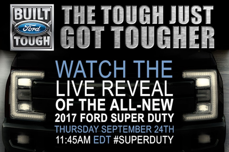 Tune in This Thursday for the 2017 Ford F-Series Super Duty Live Reveal!
