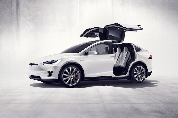 2016 Tesla Model X Front Three Quarter With Doors Open