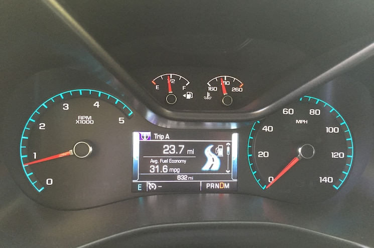 2016 Chevrolet Colorado Diesel Fuel Economy Gauge