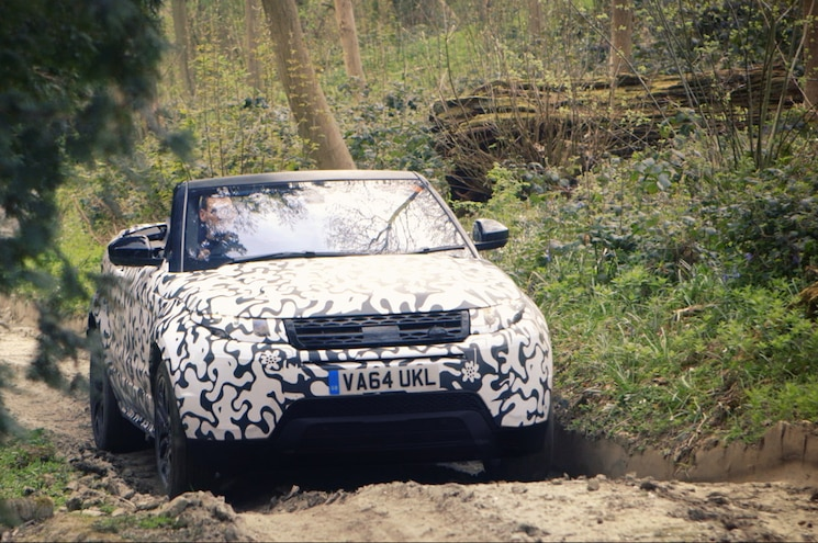 Range Rover Evoque Convertible Romps Topless Off Road