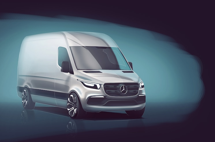 Mercedes-Benz Teases 2019 Sprinter Van with Sketch