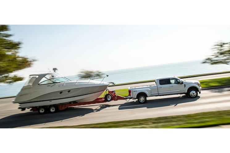 2018 Ford F 450 Super Duty Limited Exterior Side Profile Towing