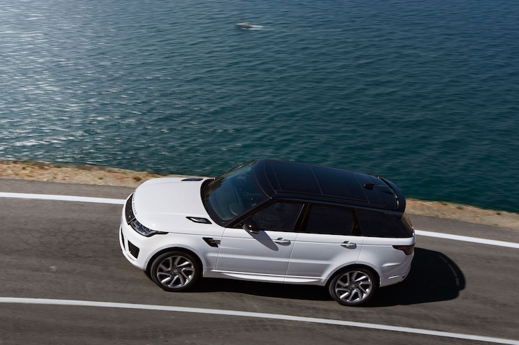 2018 Range Rover Sport P400e Exterior Side View High In Motion