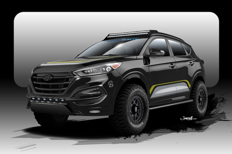 Tucson With 'Tude – Hyundai Releases Sketch of SEMA Concept