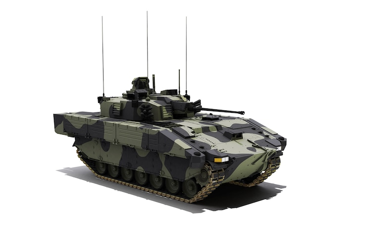 002 Scout SV Armored Militrary Vehicle Front Side View