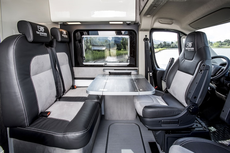 Fiat Professional Ducato 4x4 Expedition Camper Van Interior Dining Area Seats