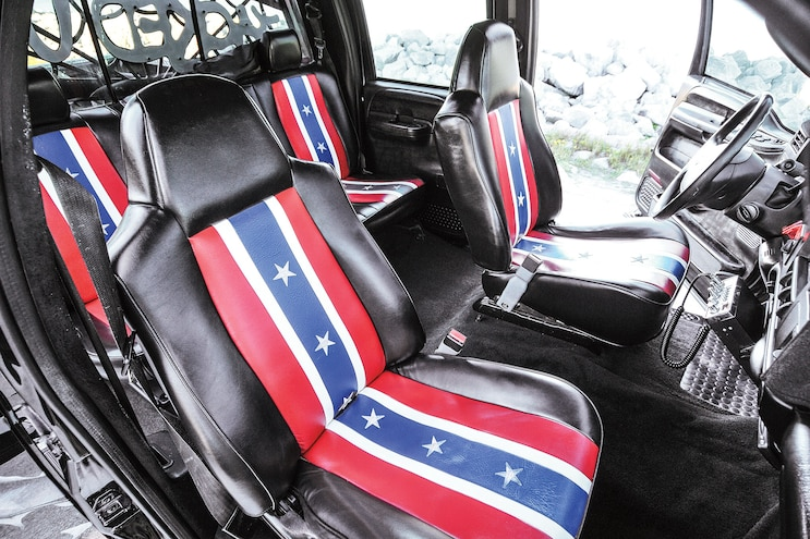 2004 Ford F250 Jacked Up Custom Interior Side View