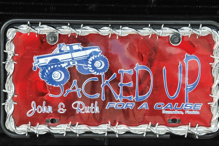2004 Ford F250 Jacked Up Custom License Plate
