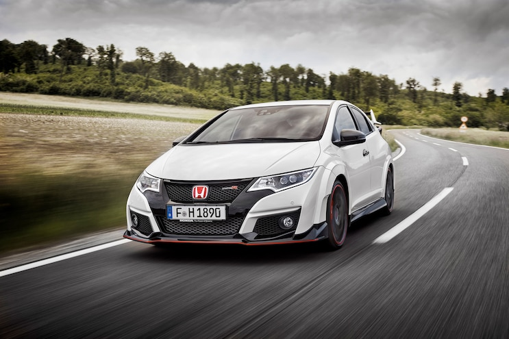 003 2015 Honda Civic Type R Front View High Speed