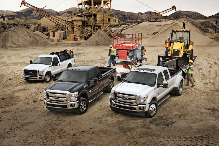 002 2016 Ford F 250 F 350 F 450 Lineup Group Photo