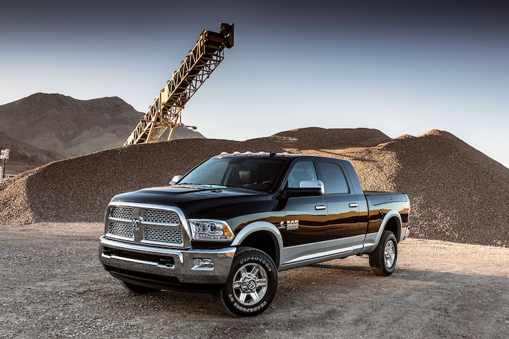 030 2016 Ram 2500 Laramie Cummins Diesel Front Driver Side View At Construction Site